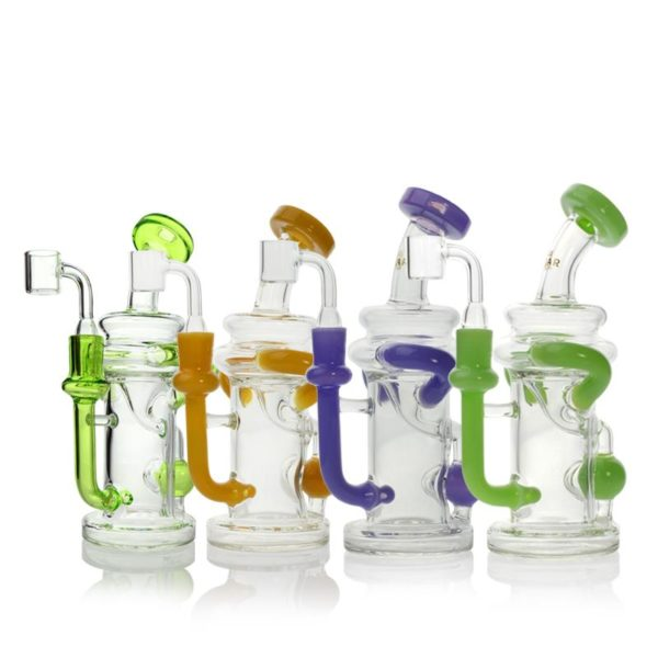 "GEAR Premium 7.5"" Tall Solstice Concentrate Recycler with Injection Perc and Quartz Banger"